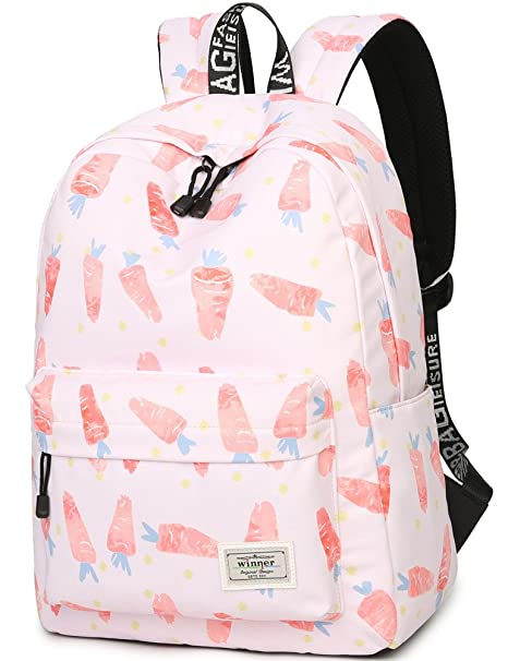 acd085505 Amazon.com: School Bookbag for Girls, Cute Carrot Water Resistant Laptop  Backpack College Bags Women Travel Daypack: Computers & Accessories