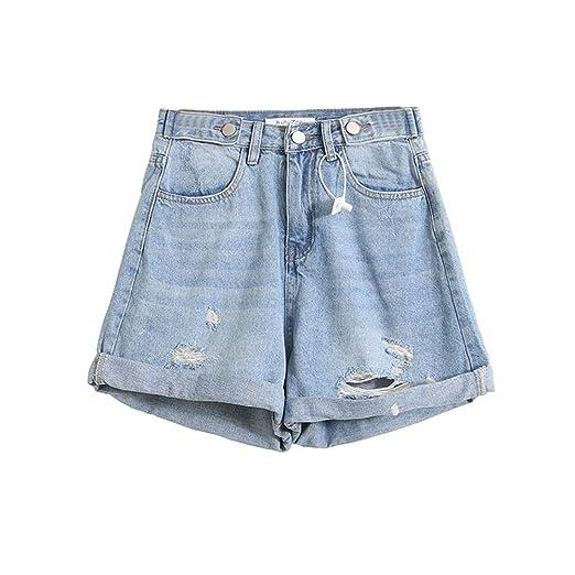 Pantalones cortos de mujer Jeans caliente Pantalones cortos de ...
