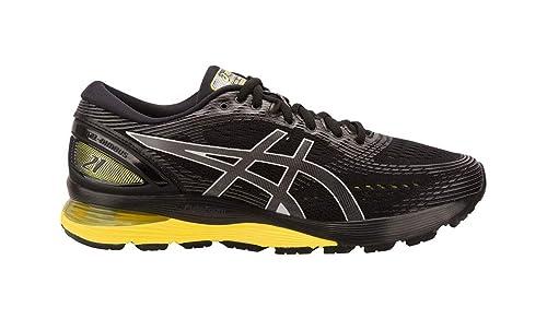 ASICS Herren Gel Nimbus 21 (2E) Schuhe, 42 2E EU, BlackNeon Spark