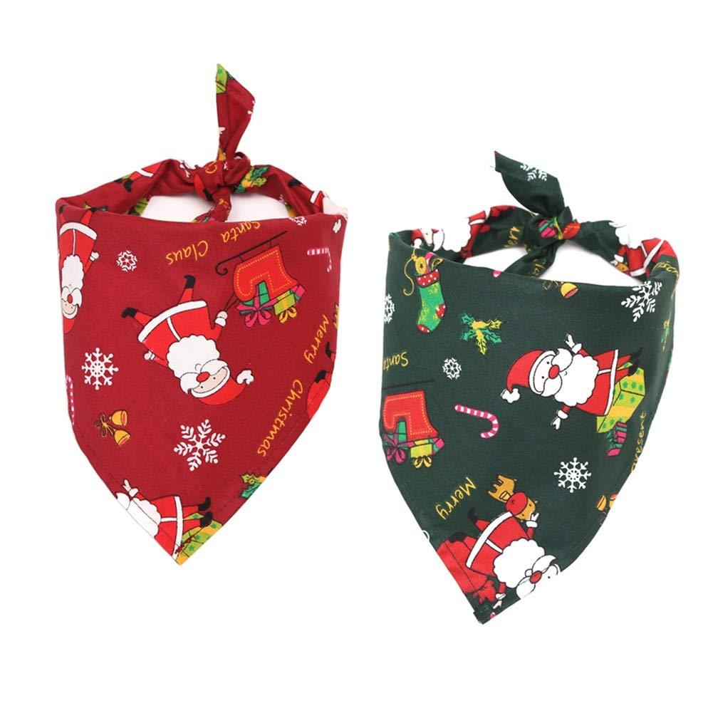 Sannysis Accesorios de Perro Navidad Alce Perro Gato Triangular ...