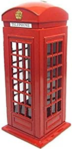Red Telephone Booth Piggy Bank, London Piggy Bank,Postal Money Pot Strange New Creative Safe Coin Money Box. (Original Version)