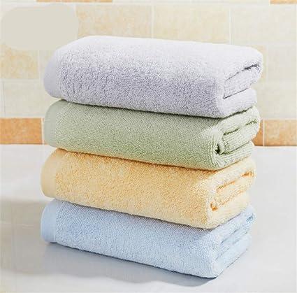 BIANJESUS Toallas de algodón Set Suave 4 Piezas Absorbente Pareja cómoda Plush Hotel Hombres Mujeres Niños