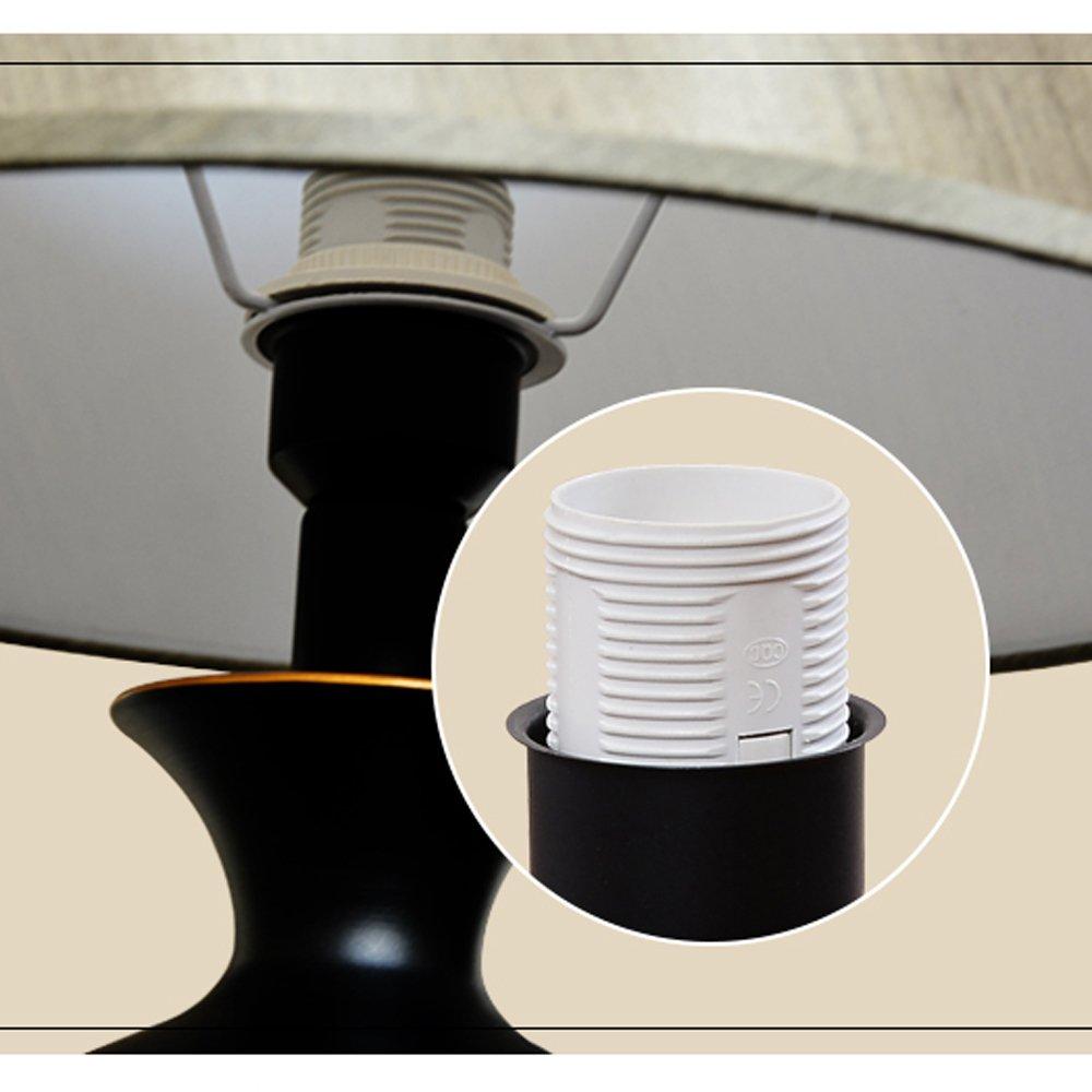 Amerikanischen Amerikanischen Amerikanischen land kreative eisen tischlampe Nordischen stil minimalistischen schlafzimmer nachttischlampe studie wohnzimmer tischlampen grau farbton B078181LR7 | Niedriger Preis  94ae0b