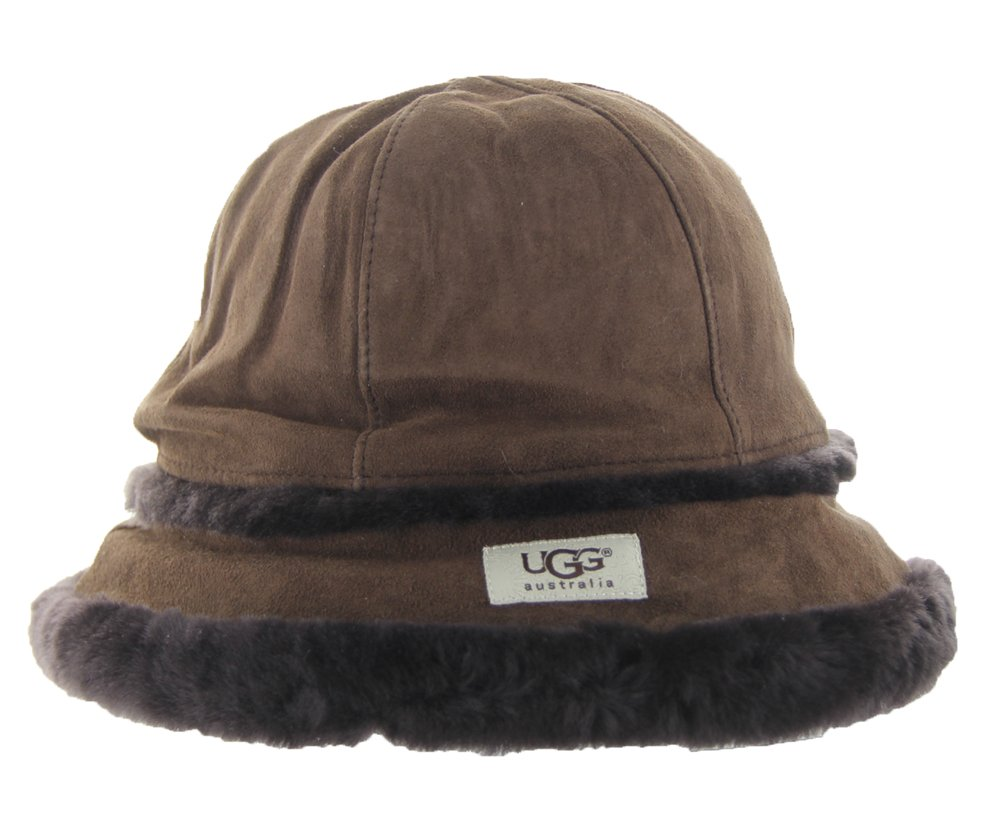 UGG Australia Womens City Bucket Hat Chocolate Size Small/Medium
