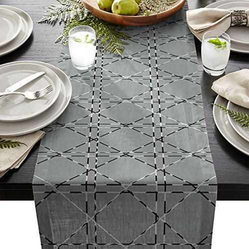 Edwiinsa Nordic Style Pattern Table Runner For Dining Table Kitchen Wedding Party Decoration Table Top Home Decor 18 x 72 Inch
