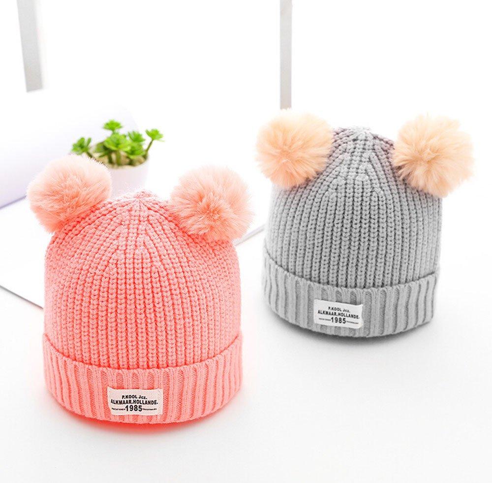 Gorros Bebé invierno cálido sombreros Punto de lana dobladillo Zapatos de  bebé Bufandas del Bebé ropa f7f9a220478