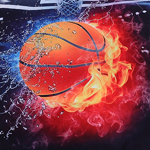 Luckey1 Basketball screen-print 3D Bedding Duvet Cover Sets