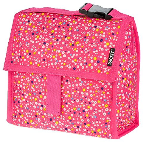 PackIt Freezable Mini Lunch Bag, Poppies (Box Lunch Bag Snack)