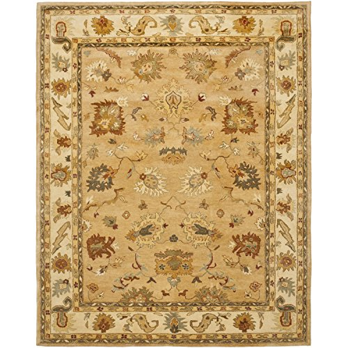 Safavieh Bergama Collection BRG136A Handmade Taupe and Ivory Premium Wool Area Rug (5' x 8') 5 Bergama Rectangle Rug