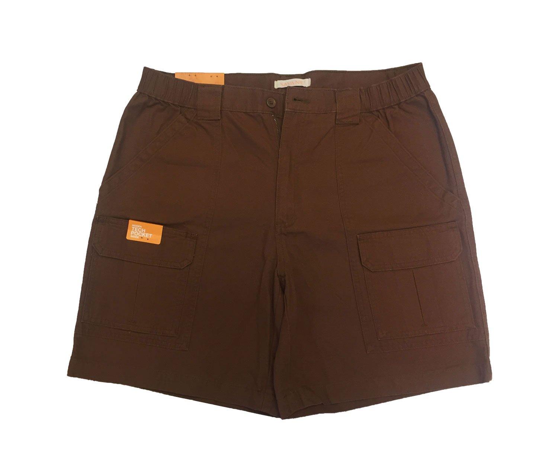 Savane Men's Comfort Hiking Cargo Shorts Toffee 42 by Savane