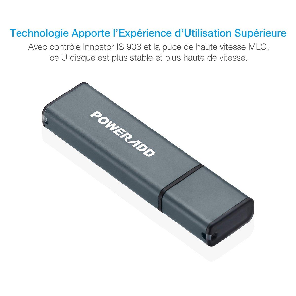 Poweradd clé USB 3.0 32G avec la vitesse rapide de lecture et d\'écriture jusqu'à 200M/s