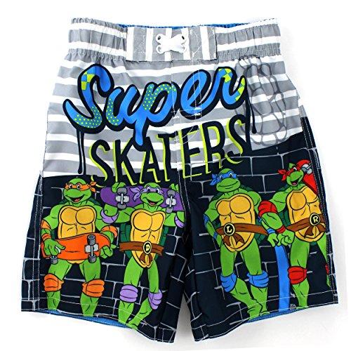 [TMNT Ninja Turtles Boys Swimwear (2T, Grey Swim Trunks)] (Ninja Turtle Suits)
