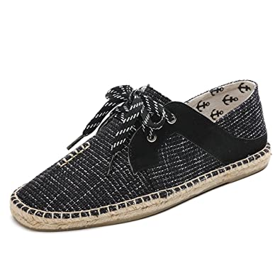 Men Canvas Lazy Shoes Slip-On Closed Toe Espadrilles