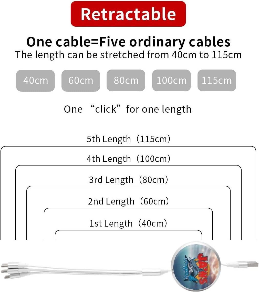 Type-C Universal Interface Android Three-in-One Data Cable Suitable for All Kinds of Mobile Phones and Tablets Such As Apple Jaws USB Cable High Speed Data and Charging