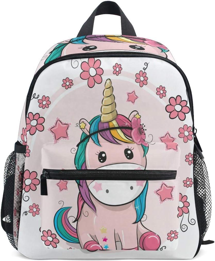 ISAOA Niño 3D caballo marrón niños mochilas Kinder preescolar niño niños/niñas mochila mochilas lindo (rosado)