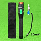 30mW Aluminium Alloy Visual Fault Locator Fiber Optic Cable Tester/VFL For FC,SC,ST & LC Adapter