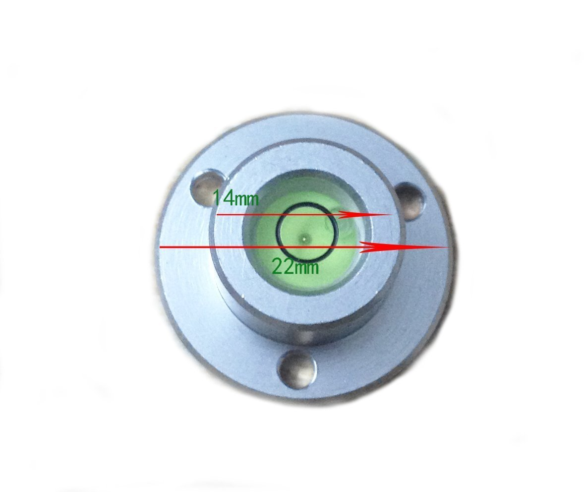 umei High precision horizontal bubble Aluminium Case Bullseye Spirit Bubble Surface Level Round Inclinometers for Surveying Instruments and Tribrachs 50x11.5mm,