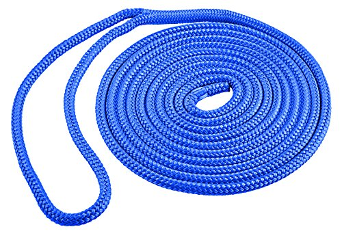 Shoreline Marine Double Braided Nylon Dock Line, Blue