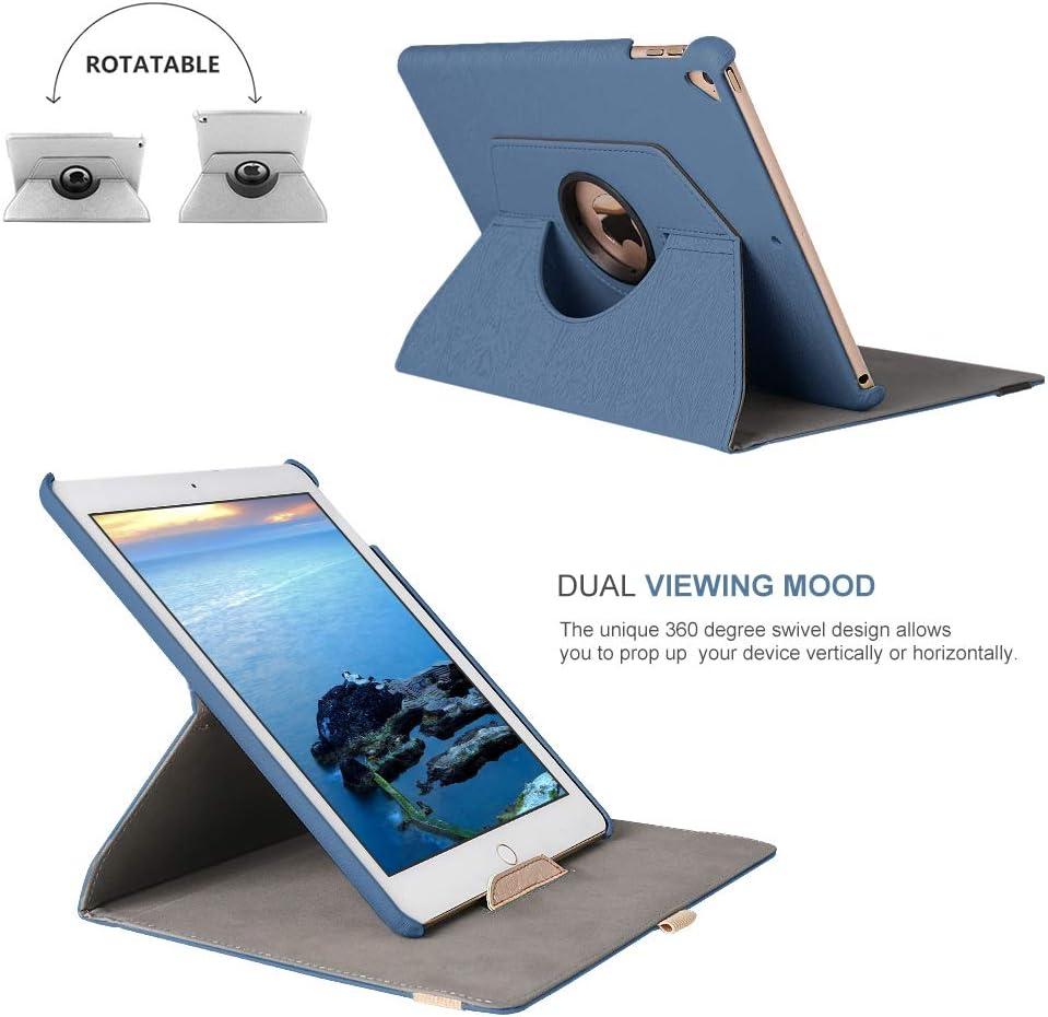 A2013 Dingrich Cubierta de Cuero Giratoria 360 Grados con Teclado Inal/ámbrico Bluetooth para iPad 11 2018 A1980 A1934 Funda con Teclado para Tableta iPad Pro 11