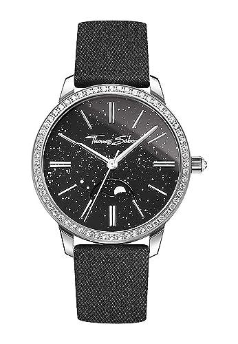 Thomas Sabo Mujer-Reloj para señora Glam Spirit Moonphase Análogo Cuarzo WA0326-201-209-33 mm: Amazon.es: Relojes