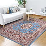 Junovo Traditional Collection Area Rug for Living Room Bedroom Dining Room,5′ x 8′,Light Red For Sale