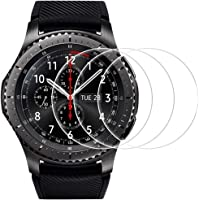 Gear S3 Frontier/ Classic Screen Protector, 3 Pack 9H Hardness 0.3mm 2.5D Scratch Resistant Anti-bubbles Anti-Fingerprint Waterproof Tempered Glass Screen Protector Protective Film Cover for Gear S3 Frontier/ Classic