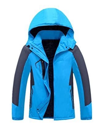 f6a61b3e630 Anbover womens plus size snowboarding jackets warm coat windproof outdoor  blue jpg 342x428 Snowboarding jackets women