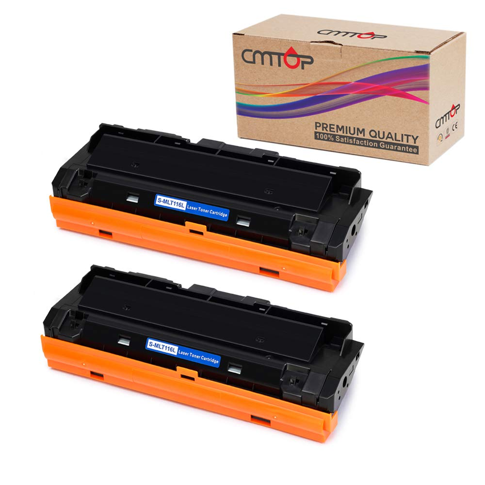 CMTOP 2 Pack MLT-D116L Black Toner Compatible for Samsung 116L MLTD116L MLT-D116L Toner Cartridge, High Yield, for Samsung Xpress SL-M2835DW SL-M2825DW SL-M2875FW SL-M2885FW SL-2625D Wireless Printer