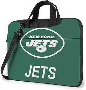 Azhangljqn Laptop Bag New York Jets Laptop Shoulder Bag, One Shoulder Shockproof Laptop Bag, Handbag, Business Travel Bag