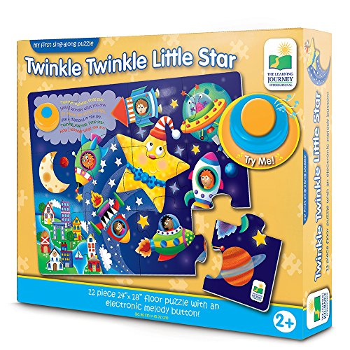 The Learning Journey: My First Sing Along Puzzle - Twinkle Twinkle Little Star - 12 Piece Floor Puzzle with Electric Melody Button