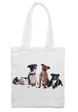 Staffordshire Bull Terrier Dogs Shoulder - Shopping Bag: Amazon.co ...