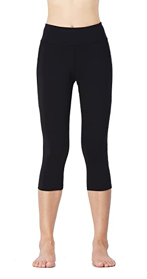 28cda377ca8f HAIVIDO Women s Moisture-Wicking Leggings Tummy Control Workout Yoga Capris  Black XL