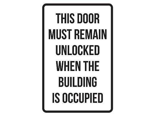 Fhdang Decor Señales de Seguridad para la Puerta Que ...
