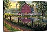 greatBIGcanvas Gallery-Wrapped Canvas entitled Barnyard Memories by Kim Norlien 48''x32''