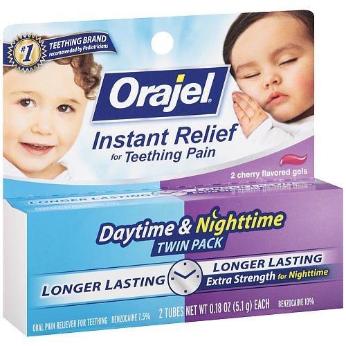 Orajel jour / Nightime Oral-douleur Twin Pack