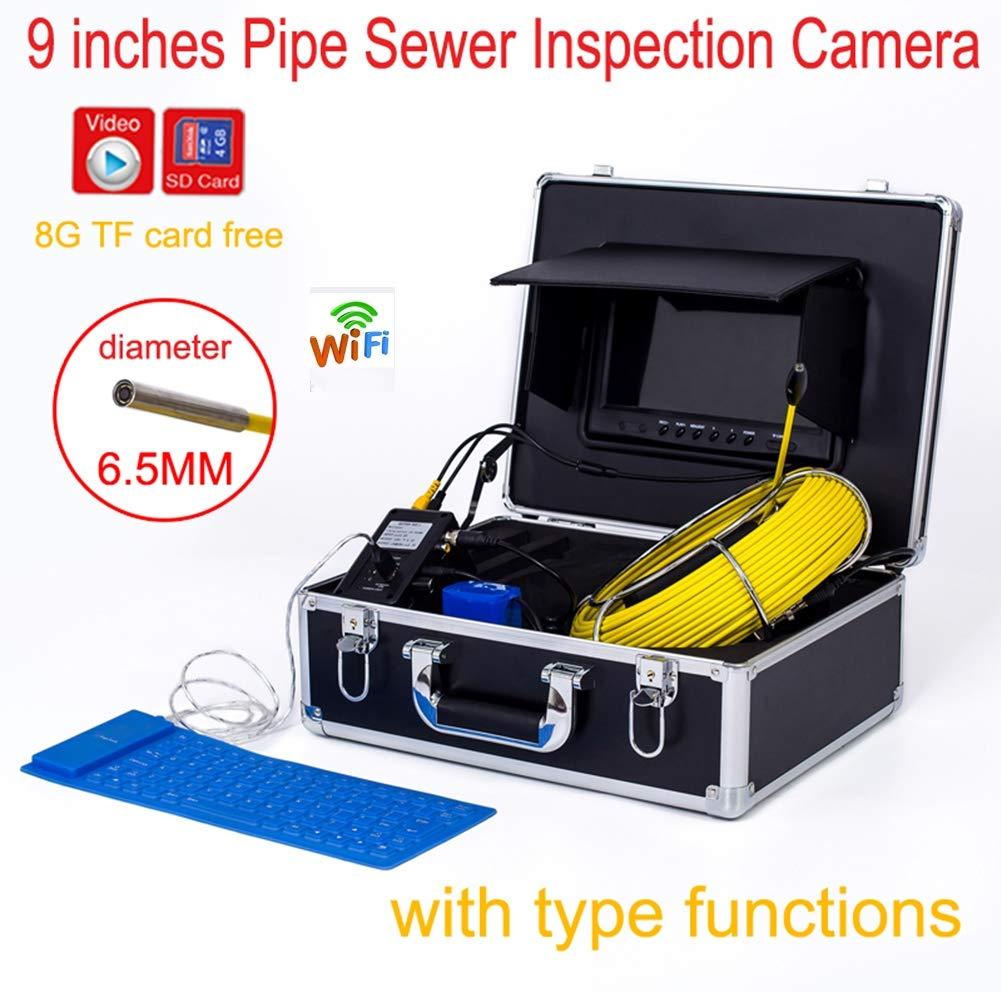 【国内発送】 9インチWIFI 6.5mm工業用パイプライン下水道検知カメラIP68防水排水検知1000 TVLカメラ(20M) B07PWPZPB8, ウルトラミックス:5b32964e --- quiltersinfo.yarnslave.com