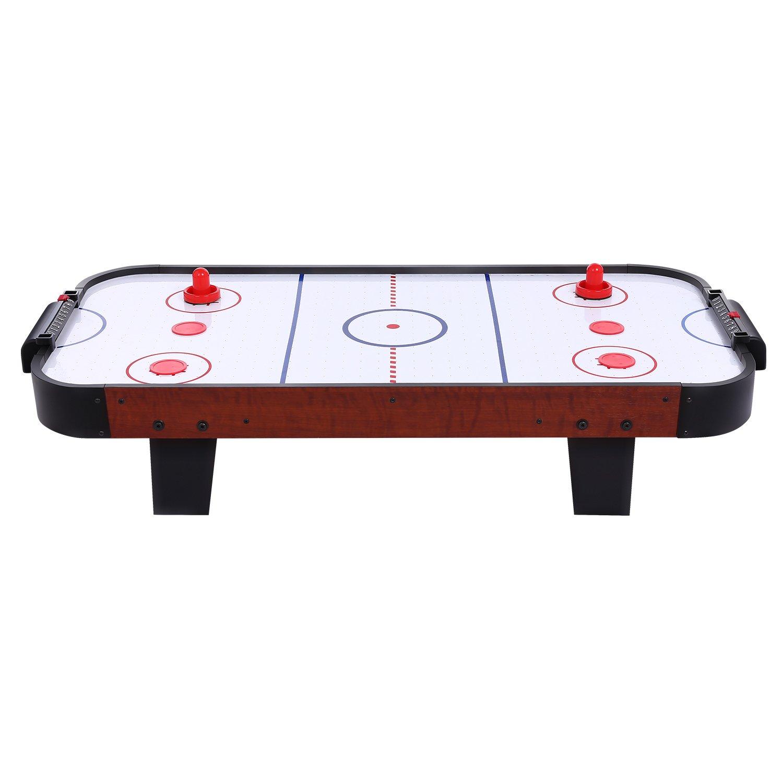 YUEBO Air Hockey Tisch Spiel für Kinder und Erwachsene, für Zwei Spieler, mit Zwei Schläge und Vier Pucks für Zwei Spieler