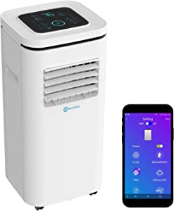 Rollibot ROLLICOOL 10,000 BTU WiFi Portable Air Conditioner and Dehumidifier 3-in-1 Smart AC Unit with Alexa-Enabled Voice Control App Quiet Operation Low-Profile and Easy Install