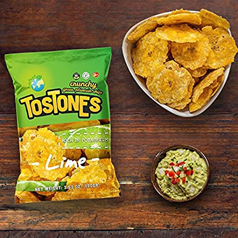 Tostones From Green Plantains 353 Oz Unit Box Of 24 Units Lime