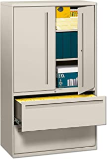 product image for HON 795LSQ 700 Series Lateral File w/Storage Cabinet, 42w x 19-1/4d, Light Gray