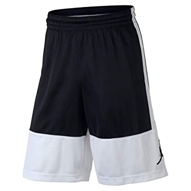 1ad1902a5ff8 Nike Air Jordan Mens Dri-Fit Rise Basketball Shorts Black White at Amazon  Men s Clothing store