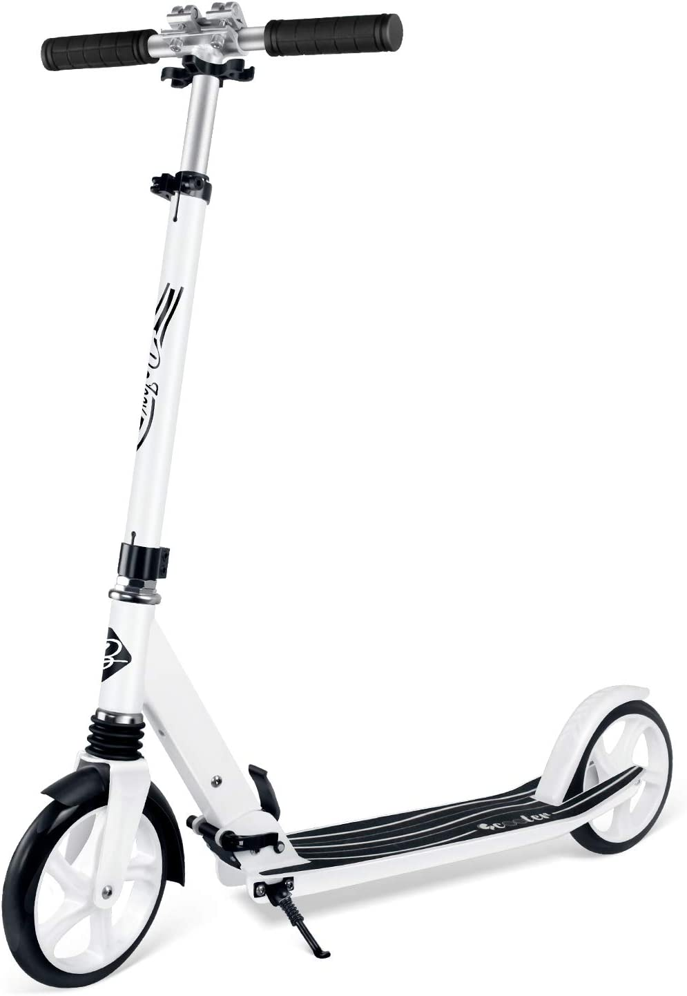 BELEEV V5 Scooters for Kids 8 Years and up Foldable Kick Scooter 2 Wheel Large 200mm Wheels Great Scooters for Adults and Teens Shock Absorption Mechanism Quick-Release Folding System