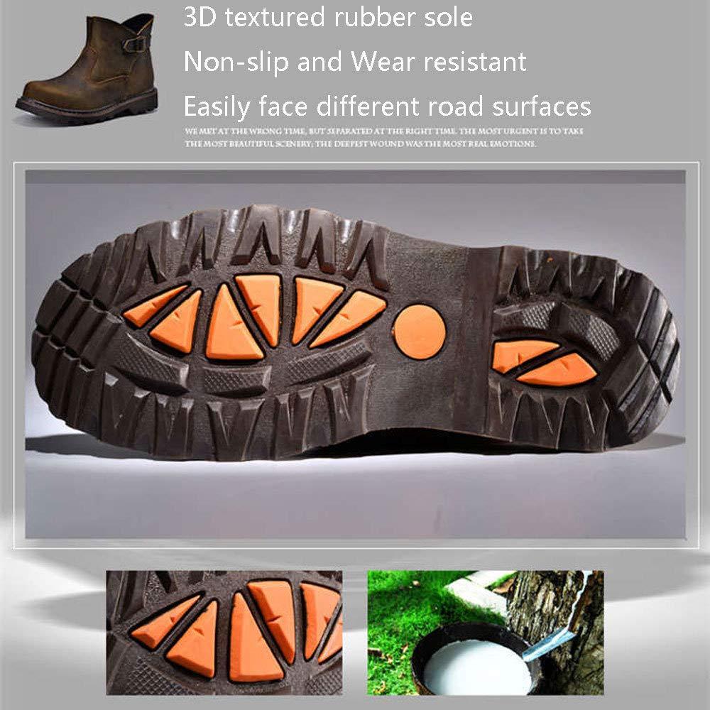 HWG-GAOYZ Schuhe Herren Herren Herren Martin Stiefel Herbst Und Winter Retro Outdoor Werkzeugausstattung Desert Leather Stiefel Mode,braun-41 909de7