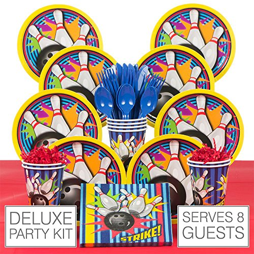 Bowling Deluxe Kit (Serves 8) (Halloween Party Games Bowling)