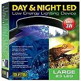 Exo Terra Day and Night LED Light Fixture Large (22 white/2 blue LED) Larg