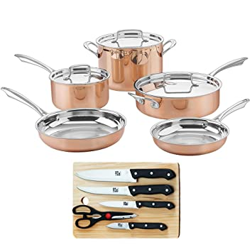 Cuisinart Copper CTPP-8 Collection - Juego de utensilios de cocina con 5 cuchillos y tabla de cortar: Amazon.es: Hogar