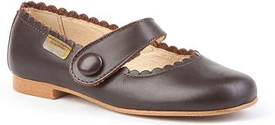 Zapatos Merceditas de niña con Cierre de Velcro. Este Zapato Francesita está Fabricado en Piel y Hecho en España - Mi Pequeña Modelo 1512I Color Marrón.: Amazon.es: Zapatos y complementos