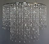 24'' wide Dazzling Large Beaded Chandelier