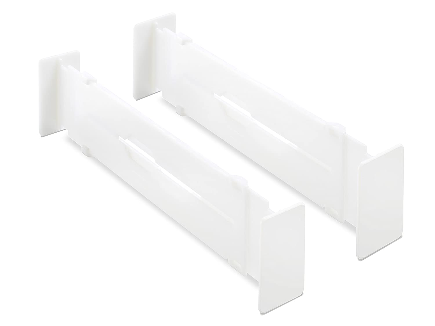 Whitmor Adjustable Drawer Dividers - Drawer Organizers - White (Set of 2) 6025-3927