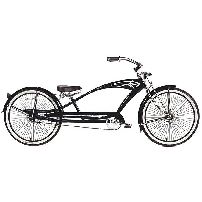Micargi GTS Bicicleta de Playa Cruiser, Bomba Negra, 26 Pulgadas ...